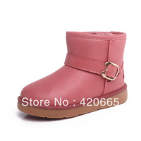 2013 Winter Children's Waterproof Snow Boots Boys & Girls cotton-padded botts PU Leather Free shipping