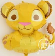 Anagram balão leão folha de alumínio balões amarelos big size longos 64 cm de largura 64 cm(China (Mainland))