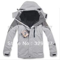 Free Shipping 2015 NEW Outdoor Climbing clothes fashion two-piece men sports coat Winter waterproof men's skiing jacket