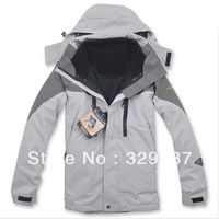 Free Shipping 2013 NEW Outdoor Climbing clothes fashion two-piece men sports coat Winter waterproof men's skiing jacket