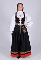 2014 Custom Made Norway Traditional Festival  100%Wool  Dress Bunads Plus Size A1003