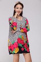 Promotion !  Plus Large Size Woman Winter Long Sweater Dress Casual 2013 Fashion Big Size Women's Dresses Autumn Tops Clothing