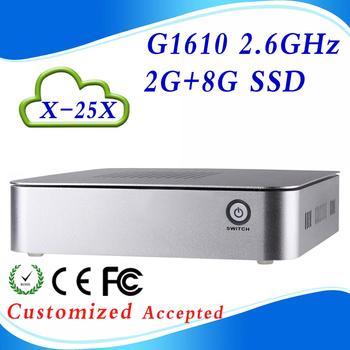 High Config CPU X-25X G1610 2G RAM 8G SSD linux mini pc mini pc windows xp cheap thin client Support Bluetooth embedded Audio
