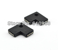 5pcs/lot Free shipping L Shape 4 Pins Female DIY Black Connector For Led Strip Lights RGB 5050 3528