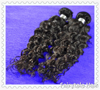 Mix size 2pcs/lot,Peruvian Human Hair,Deep Wave Curly,Virgin Hair Weft, 100% Unprocessed Virgin Hair,Free Shipping,Extension