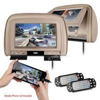 "Multi-language 9"" Car Headrest DVD back seat  video+Game+HDMI+DVD/USB/SD+FM/IR+Zipper, French/Italian/Spanish/Turkish Menu"