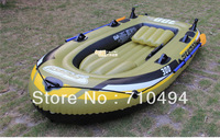 inflatable boat for 3 persons, pvc fishing boat with hand pump, free express