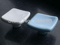 12pcs lot free shipping Porcelain elegance square cabinet knob\cabinet handle\drawer knob