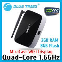 Quad Core Android 4.2 Google HDMI TV Box XBMC Mini PC Miracast Receiver Wifi Display 2GB RAM 8GB Flash Free Shipping