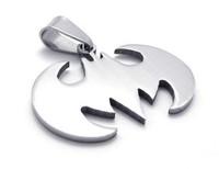 Fashion Batman 316L Titanium Stainless Steel Men's Pendant Necklace Popular Jewellery Accessory 50pcs/lot