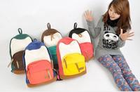 Colorful Women Lady New Korean Version Canvas School Campus Book Backpack Shoulder Bag