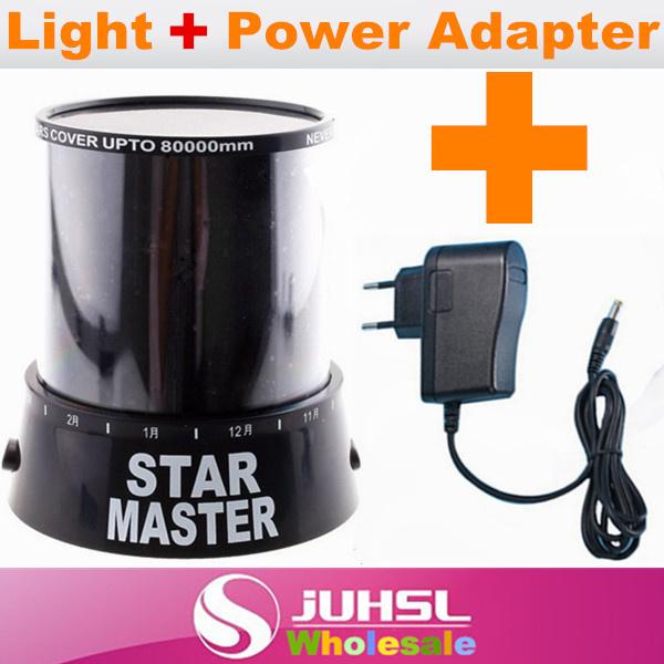 Star Light + Power Adapter,Best match,Night Lights,Indoor Lighting,EU plug,night lamp,doulex ,Novelty toys, magic gift(China (Mainland))