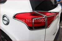 2013 2014 TOYOTA RAV4  RAV 4   ABS Chrome Tail Light Lamp Cover Trim 4 pcs