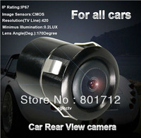 170 Degree Night Vision 18mm  Rear View Camera Car Parking Camera Backup Reverse Parking Reversing Camera EC005M Free Shipping