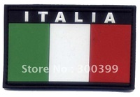 """Embossed PVC patch """"Italy Flag"""" patch with velcro back NEW PRODUCTION"""