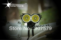 10pcs/lot (Black) SolarStorm X2 Cree LED Bike Light 2 uses CREE XML-T6 Or U2 LED 2000LM output +3 Intelligent Power Indicate