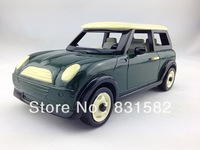 Free Shipping! Handmade Wooden Mini Classic Car Module Green Vintage Craft Gift Decoration Souvenir