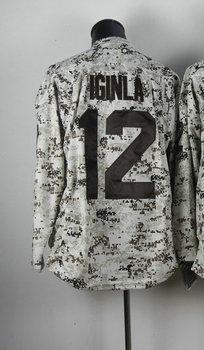 Cheap Wholesale Men's Hockey Jersey #12 Jerome Iginla Camo Authentic Ice Hockey Jersey Size 48-56 All Stitched(Sewn on)