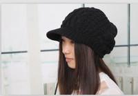 2013 New Fashion Ball Embellished Hat Black LF13093013