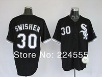 Chicago White Sox 30 Nick Swisher Baseball Jerseys Embroideried Logo Drop Free Shipping