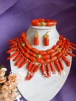 No, 3035 Fashion Coral Jewelry Set
