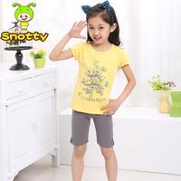2013 New Arrival Baby Girl Summer Set Flower Pattern T-shirt & Shorts Suit Children Cotton Clothing Short Sleeve Wholesale 5 set