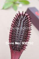 New 2014 original violet wooden Airbrush massage comb hair brush  natural hair straightener styling tools +Luxury box