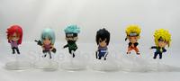 6x Cute Naruto Aaction Figurse Jiraiya/Orochimaru  Anime  Figures 6pcs/set  6CM  Free Shipping Best Gifts