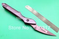 Novel Pen Knife F0573, 440C grey folding blade, aviation aluminum handle with pocket clip, free shipping