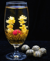 10 Kinds different blooming flower tea artistic the health care the artistic blossom flower tea artistic chinese flower tea ball