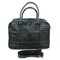 High Quality Vintage Fashion Croco Genuine Leather Cowhide Men Women Handbag Shoulder Bag Messenger Bag Bags For Men Women 2051