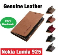 100% Handmade Original Genuine Flip Wallet Purse Stand Leahter For Nokia Lumia 925 Case Fit Nokia 925 Mobile Phone Bags & Cases