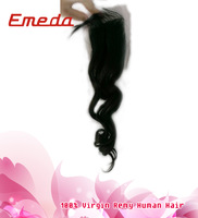 Cheap price lace closures remy virgin human hair piece loose wave silky wave Indian lace closure 8-24 inch in stock