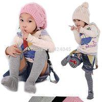 2014 Fashion Sock Girl Children's Cotton Jelly Color Bowtie Stripes Princess Tube Socks, Free Shipping Dropshiping Y52 TZ396