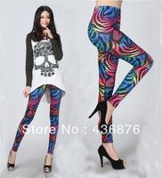 Free Shipping Blackmilk Colorful Zebra Printed Women's Leggings Wholesale And Retail