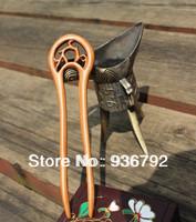 New 2014  original peach wood handmade hair accessories hairpins,girl headwear hair styling for women flower hair clip