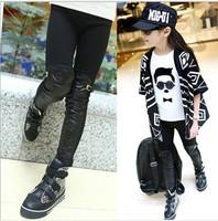 Brand US design children pants 2014 new girls pants Fight skin kids pants girl legging high quality Cotton leggings for girls