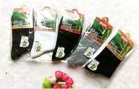 30pcs/lotPure color of bamboo charcoal fiber male stockings foot bath socks wholesale
