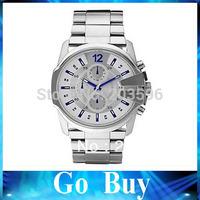 Free shipping Hot Sale DZ4180 DZ4181 DZ4182 Leather stainless steel Watch men's quartz watch Wristwatches+original box