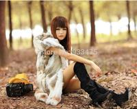 Genuine Rex Rabbit Fur Vest With Hood  Slim Rabbit Fur Coat Winter Real Fur Jacket  TPVR0002