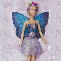 Butterfly fairy flower Doll for girl/new year Christmas gift play toys doll for kids free shipping