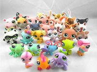 Free Shippin 20pcs/Lot Littlest Pet Shop LPS Animasl Loose Figures Collection toy ( 20pieces/lot) In Stock Enough For Wholesale