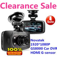 Clearance Sale Novatek GS8000L Car DVRs Full HD 1920X1080P G-Sensor IR Night Vision  2.7 inch 140 Degree Angle Free Shipping