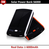 6000MAH Solar power bank portable mobile power bank external battery STD S6000 backup battery portable charger Free Shipping