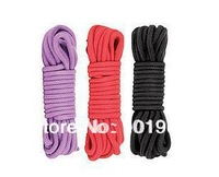 Free Shipping Gorgeous 32Ft 10M Japanese Style Sex Toys Soft Sexy Cotton Rope for Couple 0.315'' Caliber Black/Red/Purple/Pink