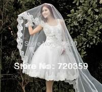Free shipping!Great Price 3 m Bride Wedding Veil ,Luxury Long Organza Lace Veil
