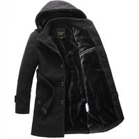 2013 Winter New Arrival Fashion Design Slim Men's Outerwear Thick Woolen Wool & Blends Coat for Man