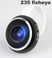 1PCS High quality  Newest Super 235 degree Detachable Universal Clip fisheye Fish Eye Lens For Samsung Htc iphone