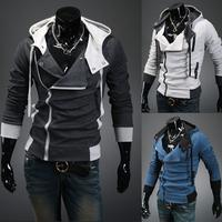 Winter 2013 Assassins Creed Costume Hoodies Assassins Creed Jacket Hoodie Big Size Sweatshirt Free Shipping LLY11-13
