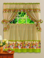 Print  curtain coffee curtain fashion brief rustic one set includes 5 pieces of curtains   for kitchen or dining room